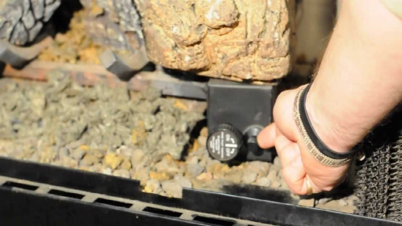 How To Light Monessen Duzy Vented Gas Logs - YouTube