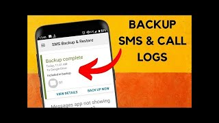 How to Backup and Restore Call Logs and SMS in Android screenshot 1