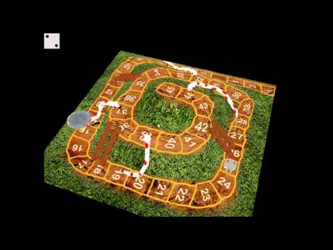 3D Snakes And Ladders Flash Game