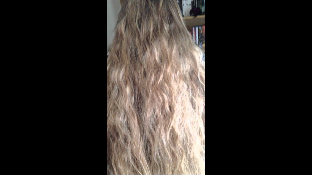 Natural hair after fishtail braid - YouTube
