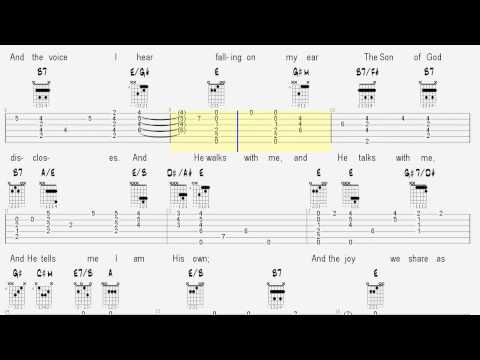 Learn Hymns on Guitar - In The Garden - Tablature and Chords