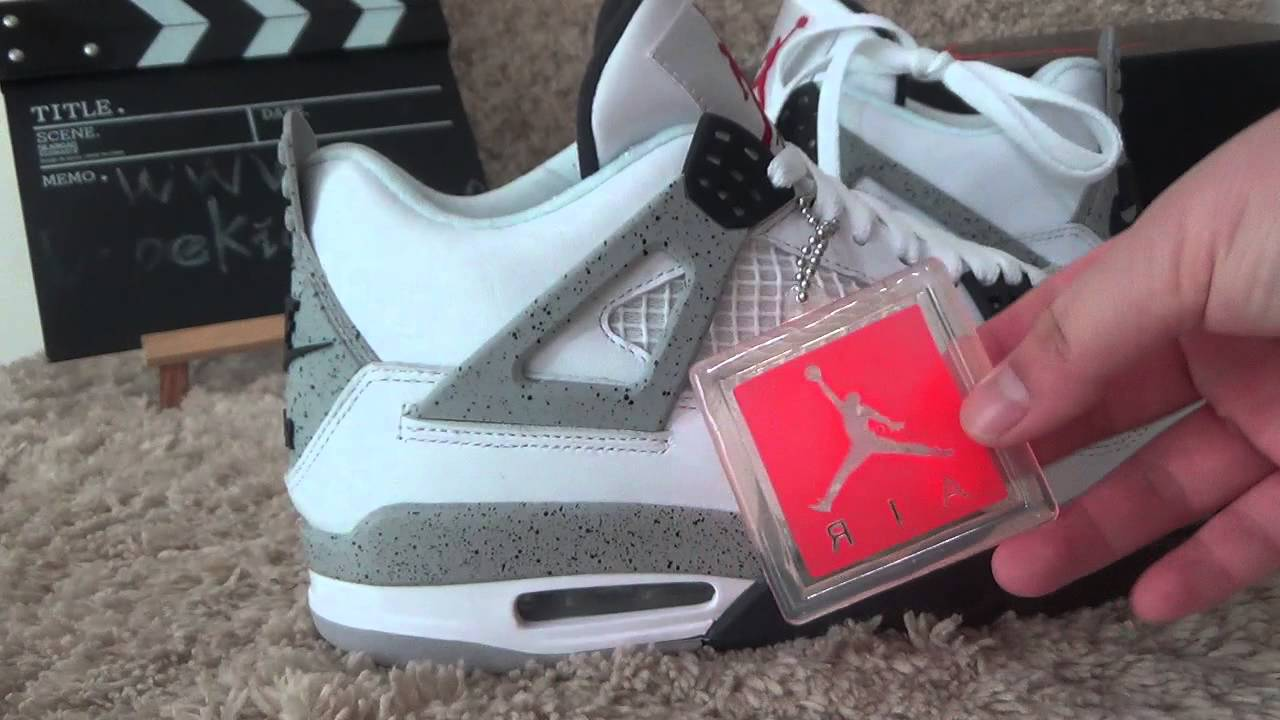 air jordan retro 4 hang tag