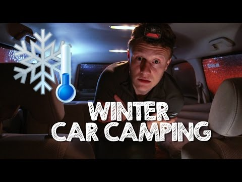 How to sleep in your car in winter