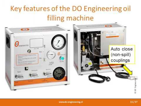 DO Engineering oil filling machine: vacuum filling of shock absorbers