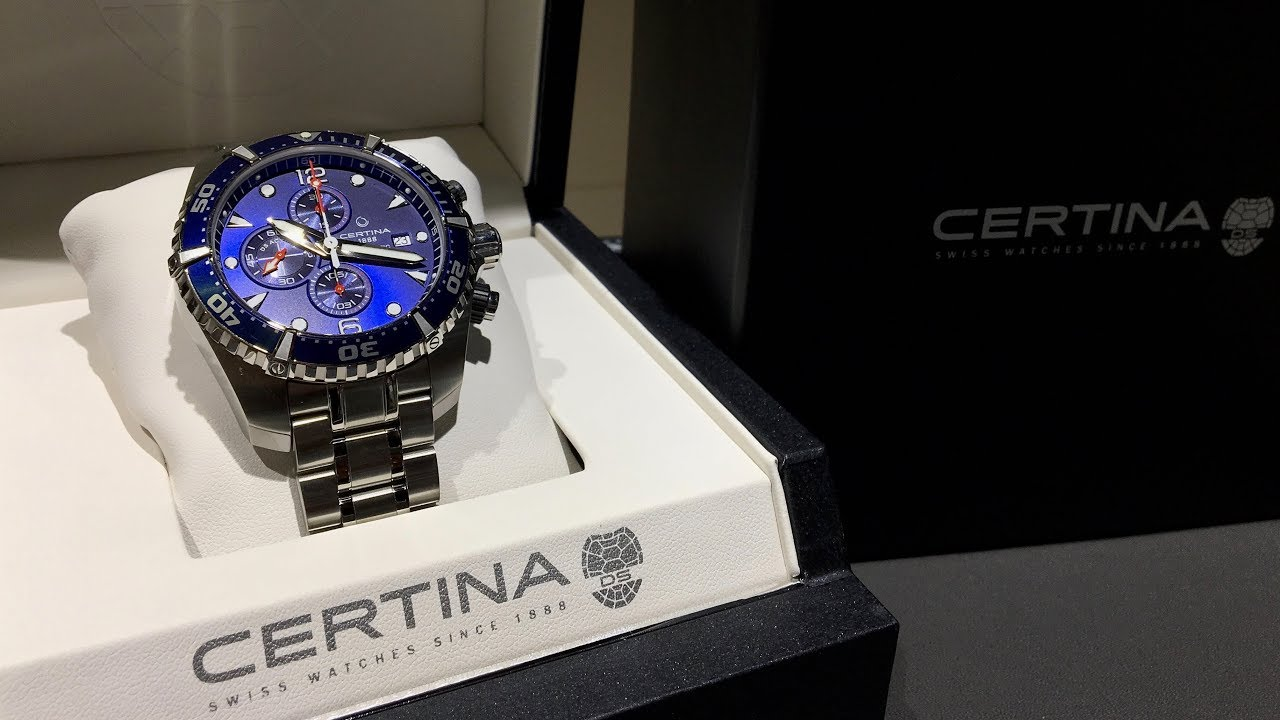 78382c3df Certina DS Action Diver Chronograph 2017 | Review | C032.427.11.041.00 |  Olfert&Co