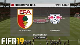 ⚽ FIFA 19 Bundesliga FC Augsburg : RB Leipzig 🏆 Gameplay Deutsch Livestream