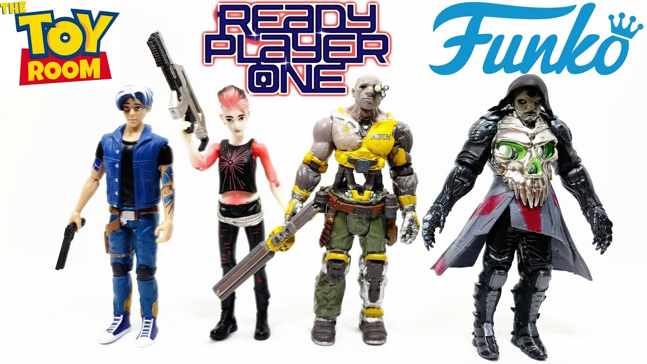 AECH /& I-R0K FUNKO ACTION FIGURE SET READY PLAYER ONE 4-PACK PARZIVAL,ART3MIS