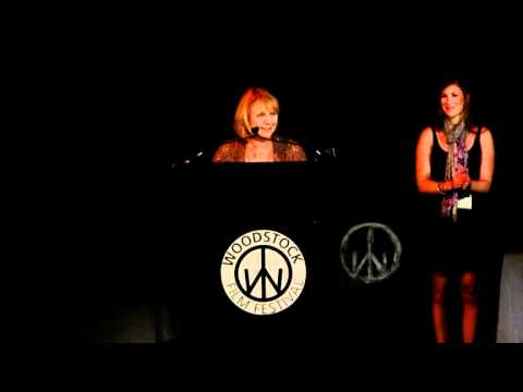 Tess Harper presents Bruce Beresford with Maverick Award at 2010 Woodstock Film Festival
