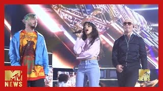 BTS of Camila Cabello's Performance | MTV Movie & TV Awards | MTV News