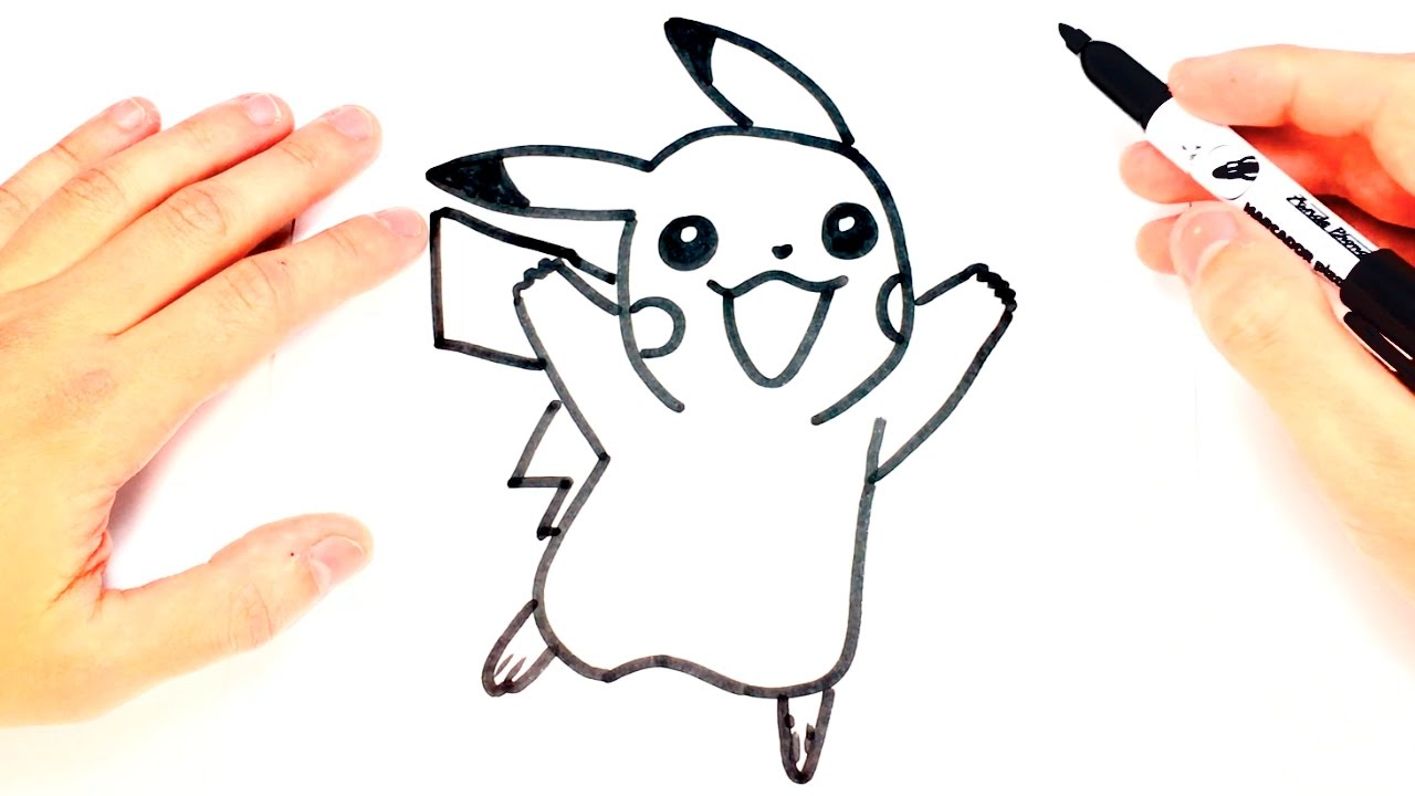 How To Draw A Pikachu For Kids Pikachu Easy Draw Tutorial Youtube