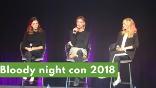 Panel Candice King, Riley Voelkel and Phoebe Tonkin highlights: Bloody Night Con Brussels 2018