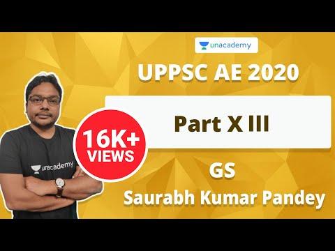 UPPSC AE 2020 GS Preparation Part - XIII | Saurabh Kumar Pandey