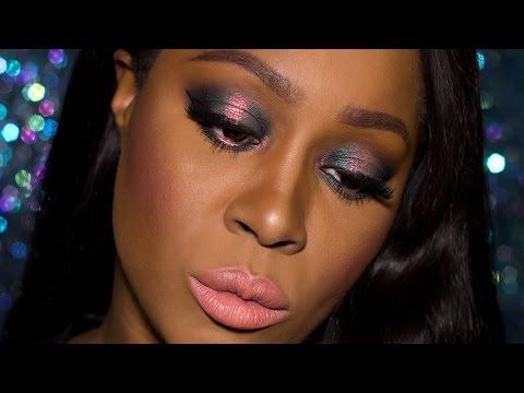 Duochrome Smokey Eye + 2 Lip Options | Sisters Of Pearl Neve Cosmetics Dark Skin| #graceonyourdash ♡