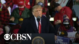 President Trump holds rally in Minnesota after first presidential debate