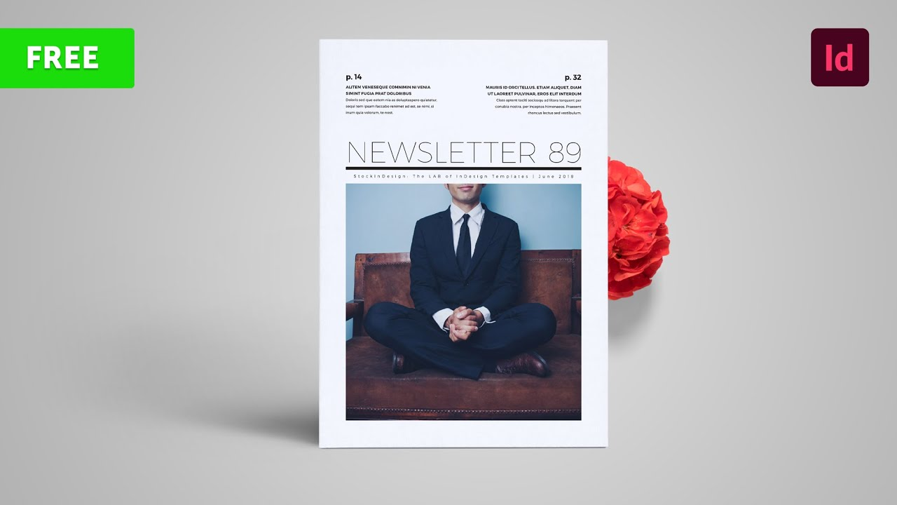 Free Newsletter Template For Indesign Youtube
