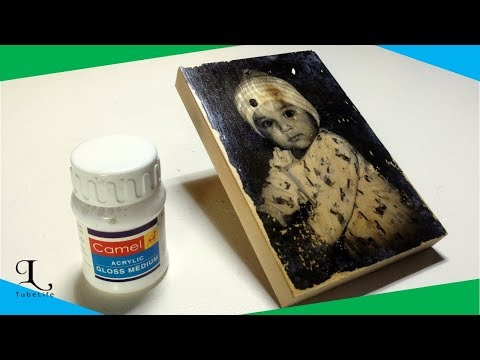 Easy way to transfer picture to wood | DIY photo Transfer