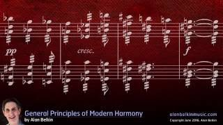 General Principles of Modern Harmony