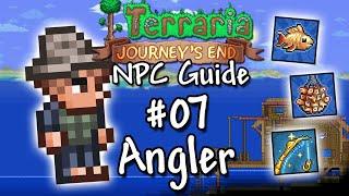 🌳 Terraria NPC Guİde #07   Der Angler   Achievements, Spawn und ein Rant über das Angeln! 🎣