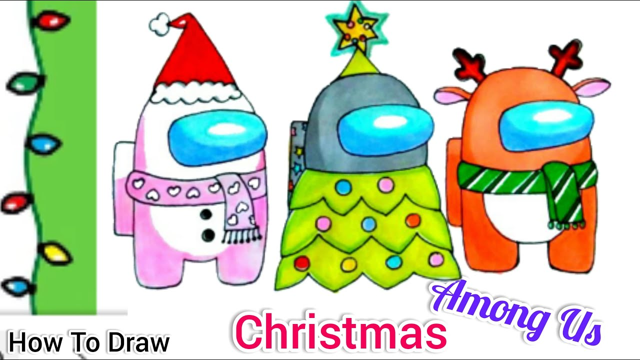 How To Draw Among Us Reindeer Christmas Tree Snowman Hats Step By Step Youtube Home » print and make » worksheets. how to draw among us reindeer christmas tree snowman hats step by step