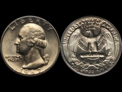 STUNNING Clad 1967 Washington Quarter Sells For Over $5000!  Was it Overkill?