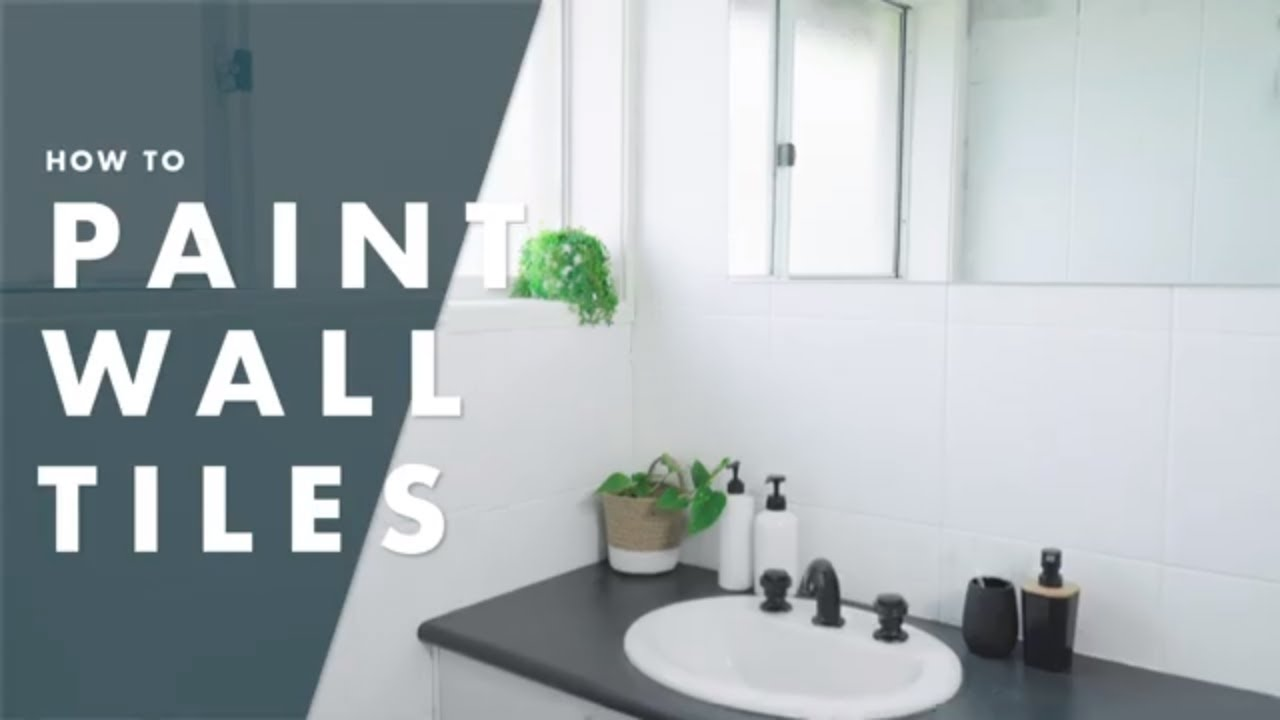 How To Paint Bathroom Tiles Youtube