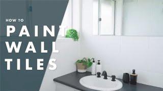 how to paint bathroom tiles