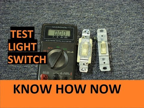 Test a Light Switch With a Multimeter