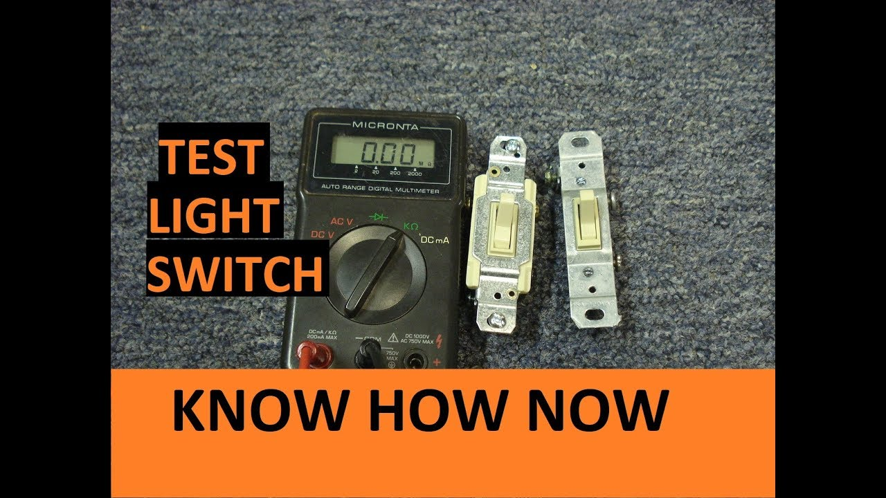 Test A Light Switch With Multimeter Youtube Wiring 3 Way 122