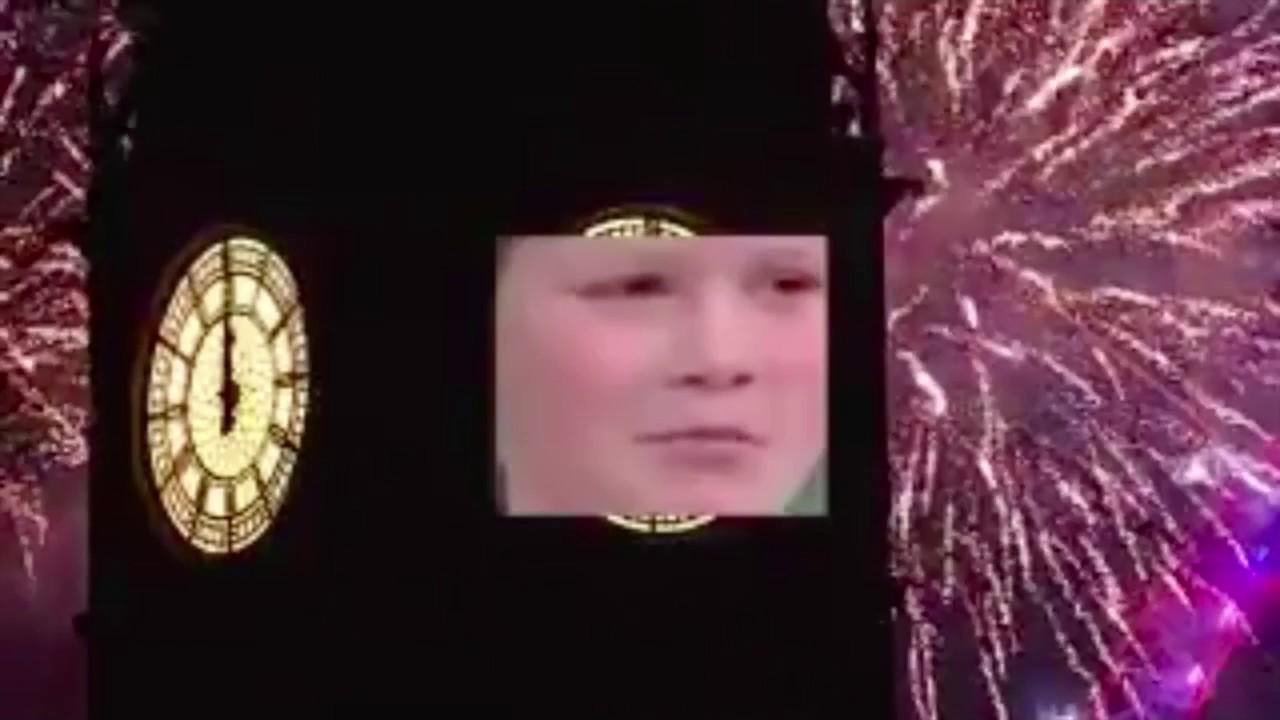 Girl Takes Over Big Ben During Nye  - Youtube-8733