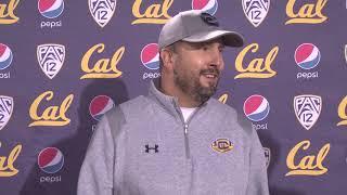 Cal Football Post Practice  OC Beau Baldwin 11/13/18