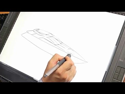 Power Yacht sketch & 2D Rendering