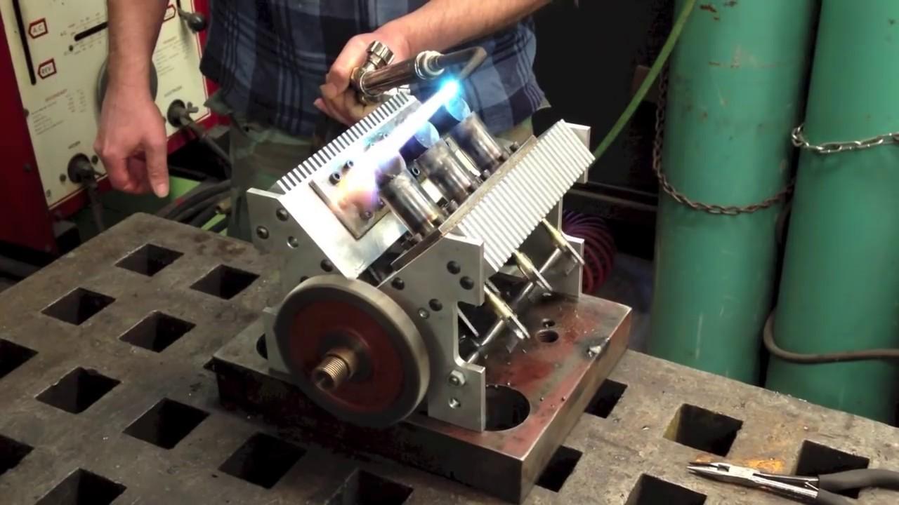 V6 Stirling Engine Youtube