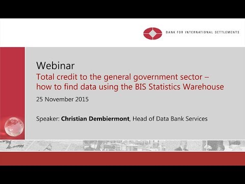 Total credit to the general government sector - how to find data using the BIS Statistics Warehouse