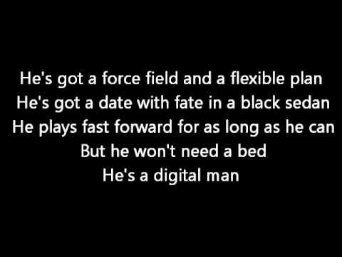 Rush-Digital Man (Lyrics)