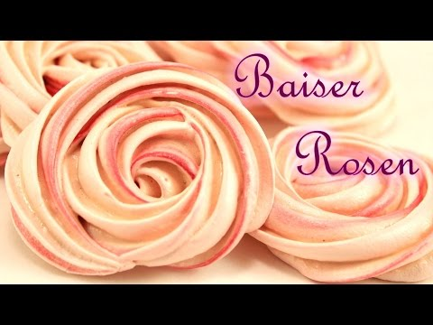 Baiser Rosen | Rose Meringue Cookies