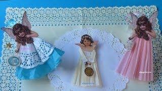 DIY, Cómo hacer Adornos Vintage para Navidad, Angel vintage, Vintage Christmas Angels