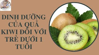 Tác dụng của kiwi với trẻ - Bé ăn kiwi
