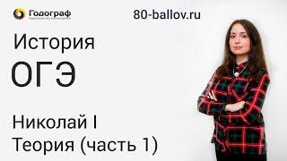История ОГЭ 2019. Николай I. Теория (часть 1)