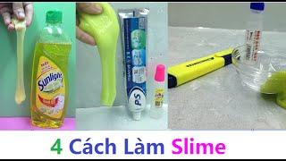 4 Cách Làm Slime Đơn Giản Có Thể Bạn Chưa Biết