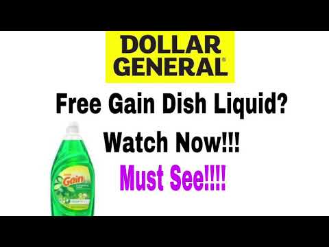 Free Gain Dish Liquid At Dollar General? Watch Now!