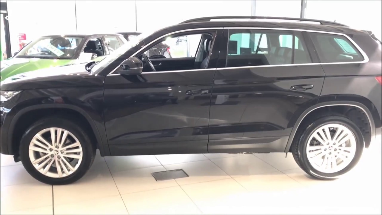 Black Kodiaq >> 2017 SKODA Kodiaq SE L in Black Magic/ ABC CAR.1 - YouTube