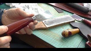 Stropping A Cheap Skiving Knife To Super Sharp