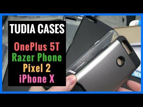 tudia-cases-for-oneplus-5t- -razer-phone- -pixel-2- -iphone-x---unboxing- -demo- -review