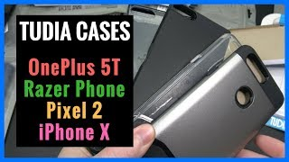 Tudia Cases for OnePlus 5T | Razer Phone | Pixel 2 | iPhone X - Unboxing | Demo | Review