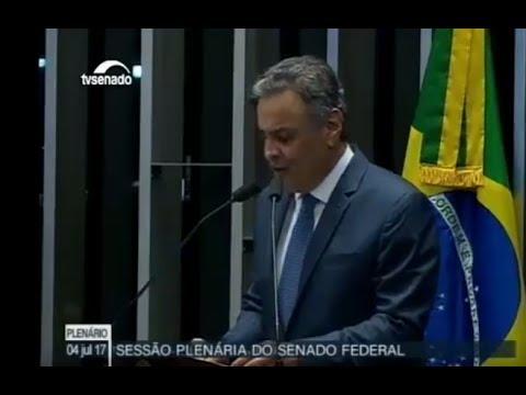 Pronunciamento do senador Aécio Neves no Senado   04/07/2017