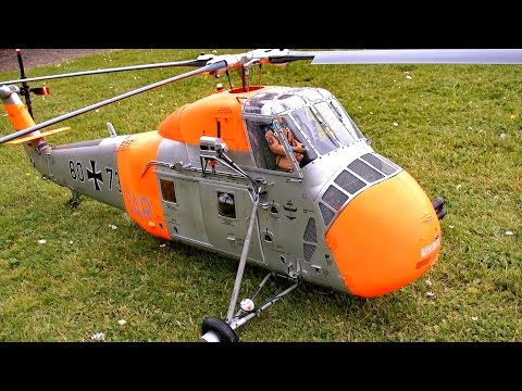 SIKORSKY S-58 H-34 BIG SCALE RC ELECTRIC MODEL HELICOPTER / RC Airshow Turbine Meeting 2015