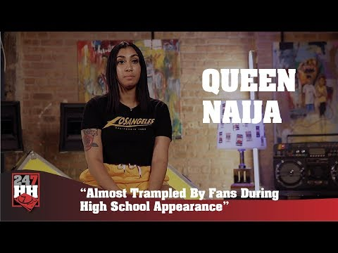 Queen Naija - Almost Trampled By Fans During High School Appearance (247HH Exclusive)