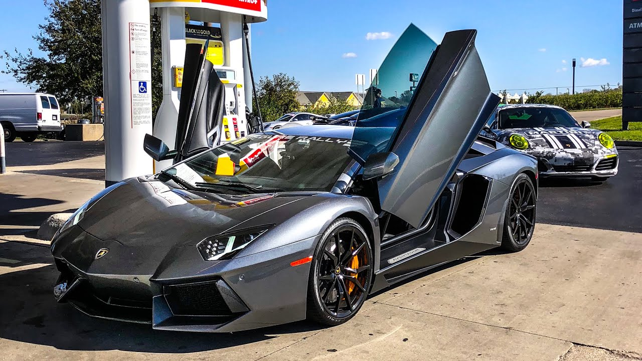 The Worst Car On Fuel Ever Lamborghini Aventador V12 Supercar Youtube