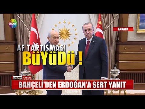 Bahçeli'den Erdoğan'a Sert Yanıt