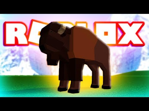 ROBLOX BISON (WILD ANIMALS OF NORTH AMERICA) Let's Play Video Barry On Blox